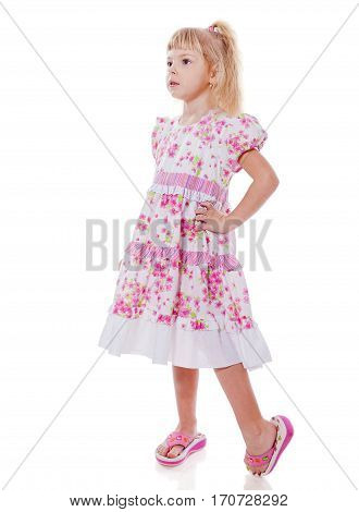 Standing Little Girl