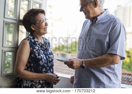 Senior Couple Daily Lifestyle Happiness