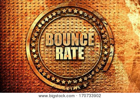 bounce rate, 3D rendering, text on metal