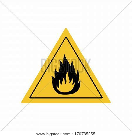 Flammable material sign vector design . ISO 7010 W021 Warning symbol.