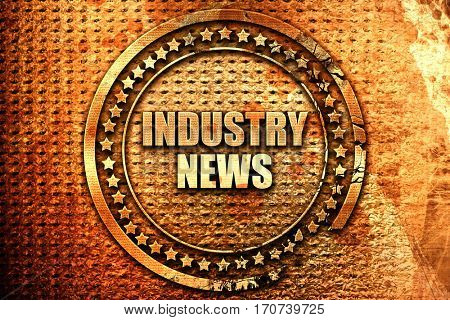 industry news, 3D rendering, text on metal