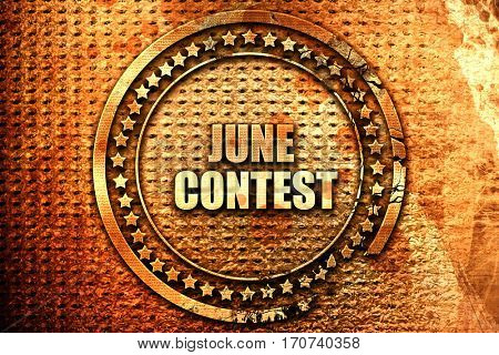june contest, 3D rendering, text on metal