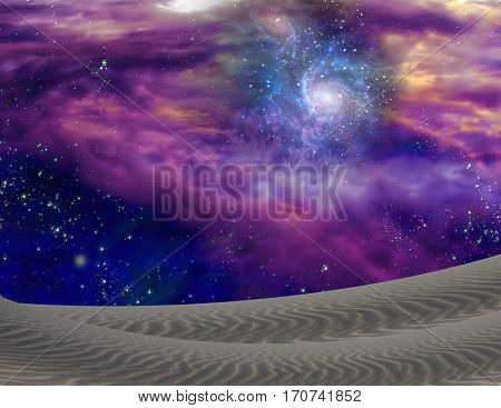 Cosmic Landscape  Some elements provided courtesy of NASA   3D Render