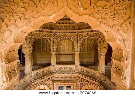 jain temple of amar sagar near jaisalmer in rajasthan state in india