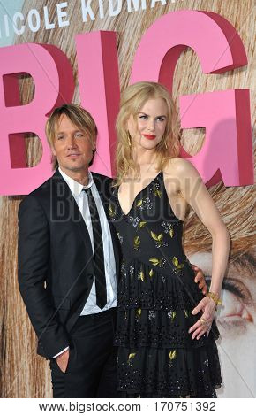 Keith Urban and Nicole Kidman at the HBO's premiere of 'Big Little Lies' held at the TCL Chinese Theatre in Hollywood, USA on February 7, 2017.