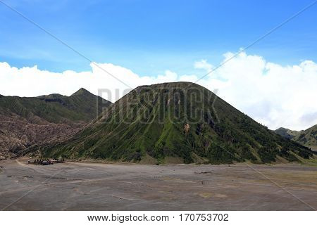 Batok Volcano at Bromo Mountain Region National Park East Java Indonesia