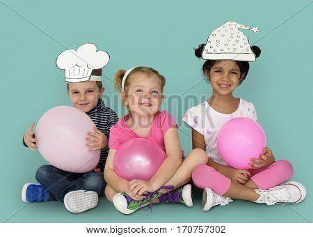 Little Kids Papercrafted Hats Balloon