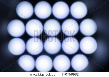 Array of LED Lights with a bokeh effect