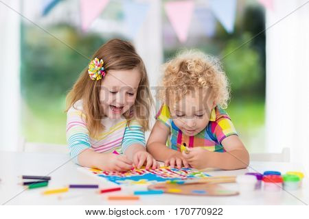 Kids Paint And Draw At Home