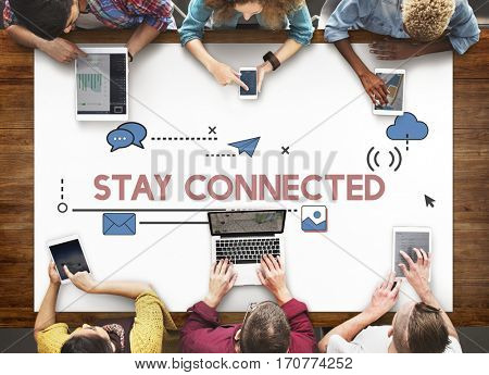 Digital Community Interaction Online Communication Stay Connected Interactive