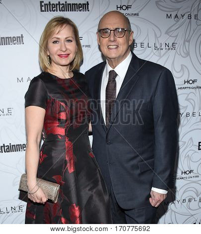 LOS ANGELES - JAN 28:  Jeffrey Tambor and Kasia Ostlun arrives to the Entertainment Weekly Pre Sag Awards Celebration on January 28, 2017 in Hollywood, CA