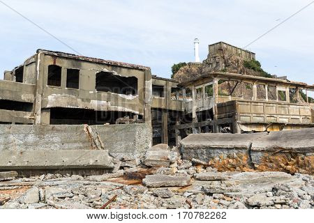Abandoned Battleship island in Japan