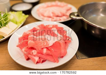 Slice of beef for hot pot