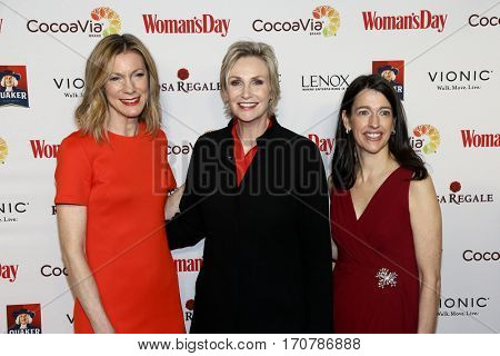 Woman's Day Editor-in-Chief Susan Spencer, Jane Lynch and Woman's Day Publisher Kassie Means attend the Woman's Day Red Dress Awards at Jazz at Lincoln Center on February 7, 2017 in New York City.
