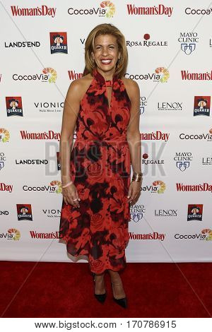 TV co-host Hoda Kotb attends the 14th Annual Woman's Day Red Dress Awards at Jazz at Lincoln Center on February 7, 2017 in New York City.