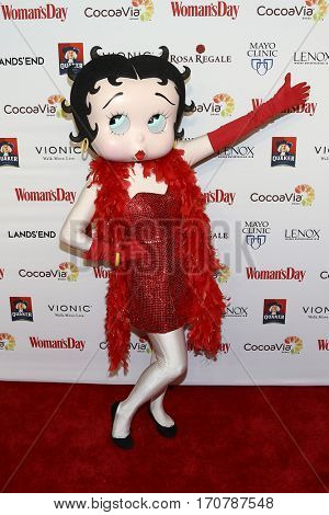 Betty Boop attends the 14th Annual Woman's Day Red Dress Awards at Jazz at Lincoln Center on February 7, 2017 in New York City.