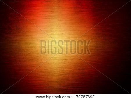 orange metal with light background
