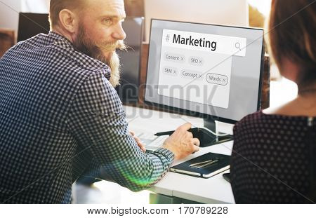 Marketing Business Digital Search Graphic Words