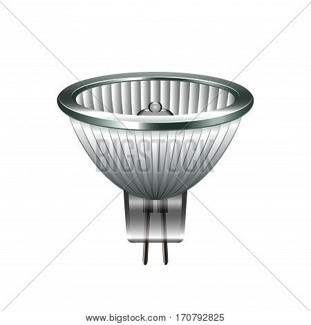 Halogen light bulb isolated photo-realistic vector illustration