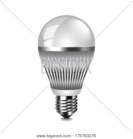 LED light bulb isolated photo-realistic vector illustration