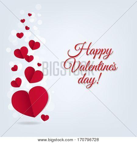 Hearts Postcard Valentines Day