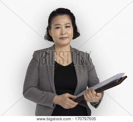 Asian Business Woman Positive Mood