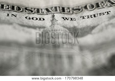Closeup of Fifty dollar bill $50
