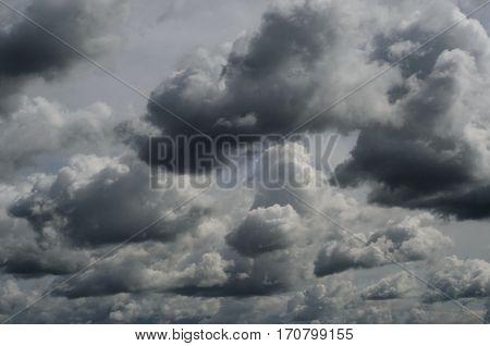 Dark Grey Threatening Storm Clouds