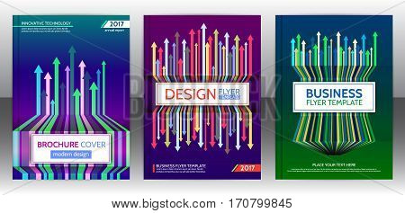 Abstract cover design with arrows elements. Abstract progress concept flyer. Brochure template layout cover design of annual report. Vector eps 10