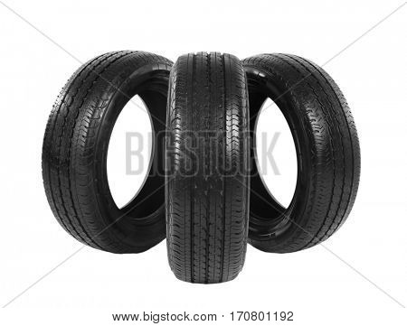 Car tires, isolated on white