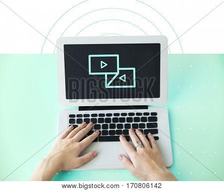Multimedia Entertainment Forward Backwards Button