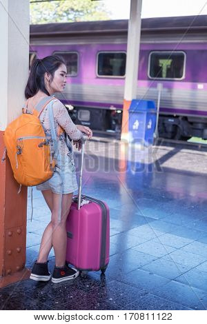 Woman waiting the metro,Journey, University Student, Only Women, Photography, Young Women,