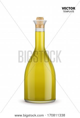 Olive oil bottle vector isolated on white background. Plastic bottle mockup for design presentation ads. Olive oil glass bottle mockup. Olive oil bottle design. Soybean oil bottle or sunflower oil bottle.