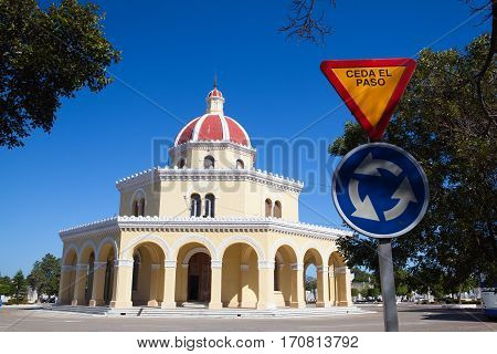 Havana Cuba - January 212017: Necropolis Cristobal Colon.The main cemetery of Havana. The Colon Cemetery was founded in 1876 in the Vedado neighbourhood of Havana