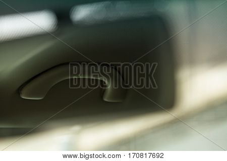 Interior car abstract detail - rearview mirror