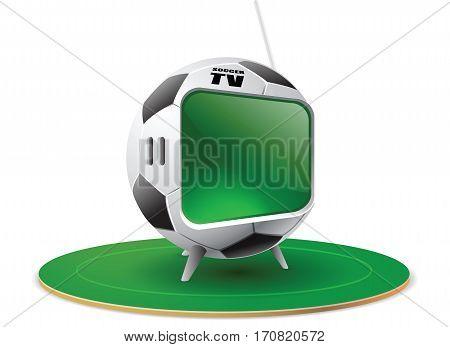 football tv mania socer live show vector
