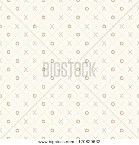 Seamless pattern TIC TAC toe neutral background