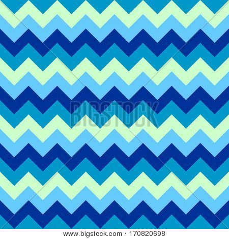 Chevron pattern seamless vector arrows geometric design colorful aqua light dark naval blue nautical