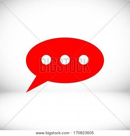 Speech Bubbles Icon. Chat pictogram icon stock vector illustration