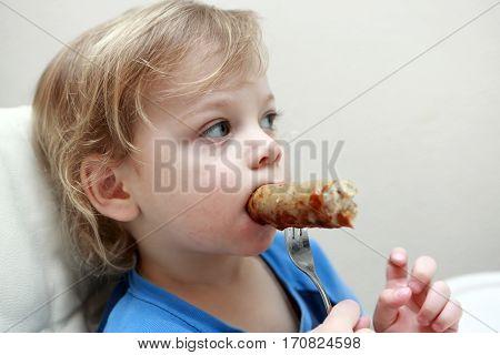 Child Has Sausage