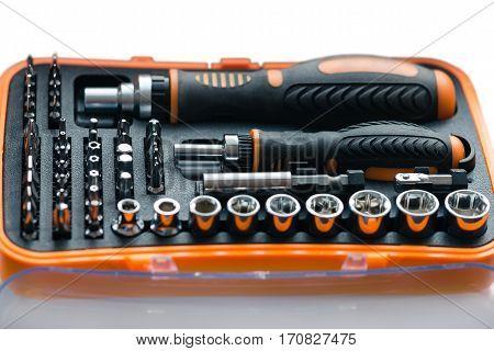 Pocket precision tools screwdriver set in box