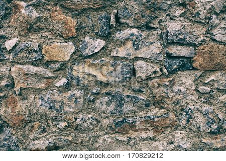 Stone wall construction background