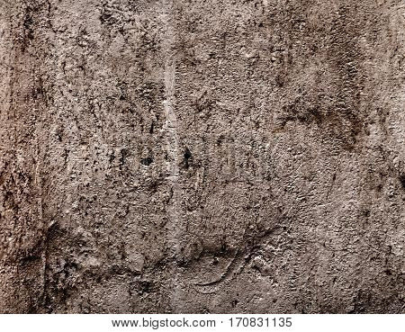 Grunge wall texture background with dirt cracks and rust