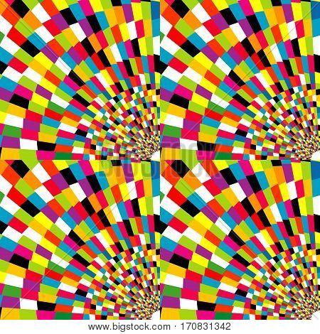 illustration of colorful abstract mosaic geometric background