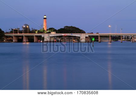 Historic Jupiter Inlet Lighthouse in Palm Beach County, Florida
