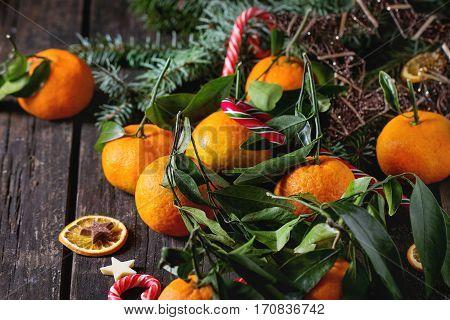 Tangerines In Festive Decor