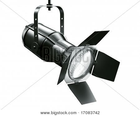 3d rendering of a spotlight on a white background
