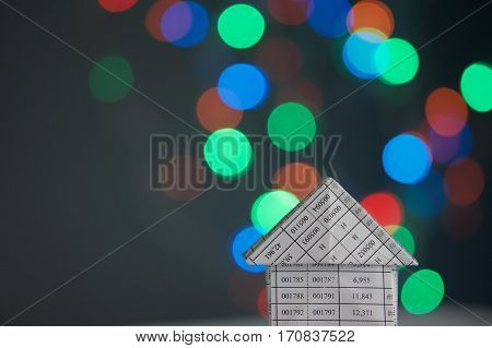 House Has Colorful Bokeh As Background