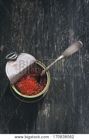 Tin With Red Caviar