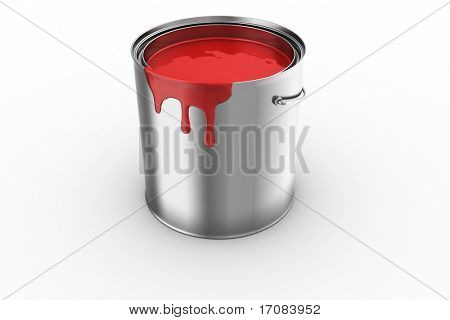 3d rendering of a paint can